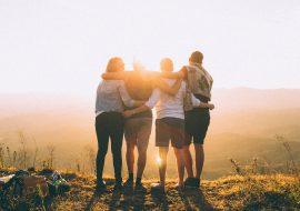 Friendship day: 4 friends and vista
